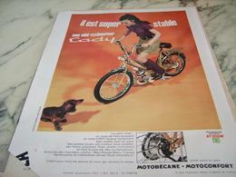 ANCIENNE PUBLICITE IL EST SUPER STABLE CADY DE MOTOBECANE 1968 - Motor Bikes