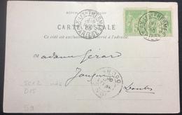 S9 Ariège Sage Ax Les Thermes T5cx2 Carte Postale Le Teich 10/8/1900 - Poststempel (Briefe)