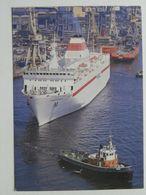 Szczecin  / Yard -  Port  Poland / Russian Ferry Michail Szolochov Towed In The Yard / Tug - Traghetti