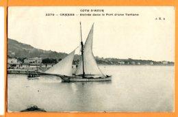 Man668, Cannes, Entrée Dans Le Port D'une Tartane,2279, Circulée 1911 - Pêche