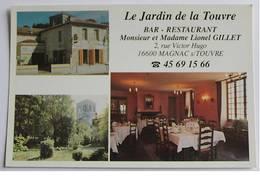 """CPM - MAGNAC Sur TOUVRE - """" Le Jardin De La Touvre """" Restaurant - France"""