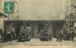 POMPIERS  SAPEURS POMPIERS De PARIS  Un Départ - Sapeurs-Pompiers