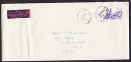 Algeria: Airmail Cover To East Germany, 1983, 1 Stamp, Uncommon Pink Air Label (damaged) - Algerije (1962-...)