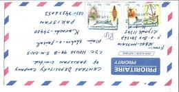Saudi Arabia  1990 1 Riyal Flower Cistanche Phelypaea, Plumbago Zeylanica Airmail Cover - Saudi-Arabien