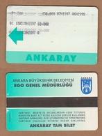 AC - SUBWAY MULTIPLE RIDE METROCARD, BUS CARD ANKARA, TURKEY PUBLIC TRANSPORTATION - Titres De Transport