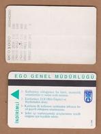 AC - SUBWAY MULTIPLE RIDE METROCARD, BUS CARD FOR STUDENT ANKARA, TURKEY PUBLIC TRANSPORTATION - Titres De Transport