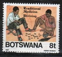 Botswana 1987 Single 8t Commemorative Stamp From The Traditional Medicine Set. - Botswana (1966-...)