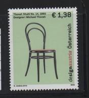 LOT 686 -  AUTRICHE N° 2218  ** -  DESIGN CHAISE - Timbres