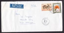 Algeria: Airmail Cover To Germany, 1991, 2 Stamps, Rabbit, Animal, Book, Air Label (minor Crease) - Algerije (1962-...)
