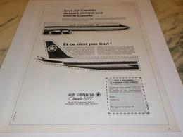 ANCIENNE PUBLICITE VOYAGE AIR CANADA 1968 - Publicités