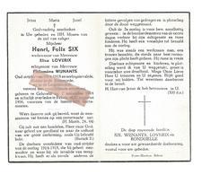 D 613. HENRI SIX - Oudstrijder 14/18 En Oorlogsinvalide - Ridder Kroonorde En Leopoldsorde -°GELUVELD 1894 / +REKEM 1956 - Images Religieuses
