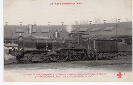 Les Locomotives (Midi) Machine N°1706 Pour Trains Express Construite En 1893. - Trains