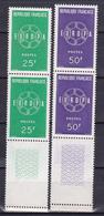 N° 1218 Et 1219 Europa 1957 Série En Blocs De 4  Timbres Neuf  Impeccable - Unused Stamps