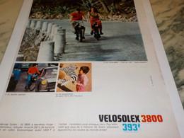 ANCIENNE PUBLICITE CE QU IL Y A DE BIEN VELOSOLEX 1968 - Motos