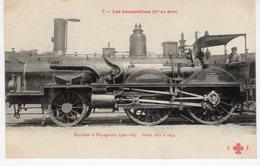 Les Locomotives (Midi) Machine N°1628 à Voyageurs Type 1885. - Trains