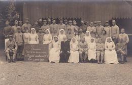 Carte Photo Souvenir Hôpital Auxilliaire 207 - Eu - 1917 - Eu