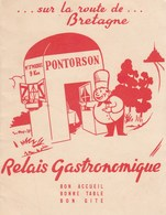 RUE LA ROUTE DE BRETAGNE - PONTORSON - RELAIS GASTRONOMIQUE - TRES BEAU DEPLIANT PUBLICITAIRE - 3 SCANNS - A VOIR !!! - Publicidad