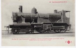 Les Locomotives (Midi) Machine N°1753 Pour Trains Express Construite En 1896. - Trains