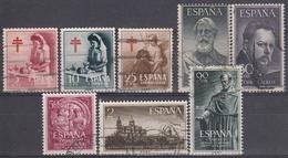 ESPAÑA 1953 Nº 1121/1128 AÑO COMPLETO USADO 8 SELLOS - Años Completos