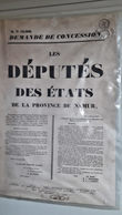 Demande De Concession De Mine De Houille à Andenne En 1834 - Posters