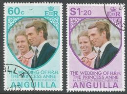 Anguilla. 1972 Royal Wedding. Used Complete Set. SG 165-166 - Anguilla (1968-...)