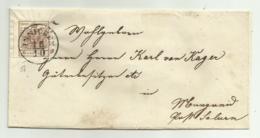 FRANCOBOLLO 6  KREUZER INNICHEN 1856 CON PARTE DI SIGILLO TIMBRO RETRO - Usati