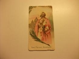 SANTINO HOLY PICTURE SAN PIETRO APOSTOLO PREGHIERA - Religione & Esoterismo