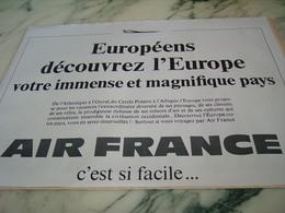 ANCIENNE PUBLICITE EUROPEENS AVEC AIR FRANCE  1968 - Publicités