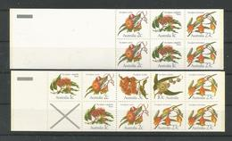 Australia 1982 Eucalyptus Flowers Booklet Set Y.T. C 801I+801II ** - Carnets