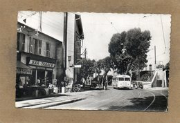CPSM Dentelée - NICE (06) - Aspect Du Bar-Tabac, Du Vieux Tram Du Quartier St-Augustin En 1952 - Cafés, Hotels, Restaurants