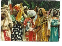 Comores-MAYOTTE-Groupe De Femmes Indigénes-PUB.Collection AMORA-TIMBRE-Obliteration-1957 - Mayotte