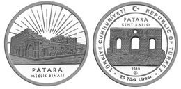 AC - PATARA, ANTALYA ANCIENT CITIES SERIES #13 COMMEMORATIVE OXIDE SILVER COIN PROOF - UNCIRCULATED TURKEY 2019 - Turquie
