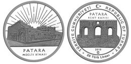 AC - PATARA, ANTALYA ANCIENT CITIES SERIES #13 COMMEMORATIVE SILVER COIN PROOF - UNCIRCULATED TURKEY 2019 - Turquia