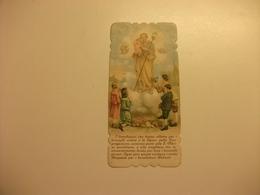 SANTINO HOLY PICTURE ORAZIONE A SAN GIUSEPPE IMPRIMATUR GENOVA 1909 - Religione & Esoterismo