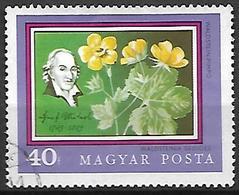 HONGRIE   -    1971 .  Y&T N° 2177 Oblitéré.    Jardin Botanique  /  Fleurs - Hungary