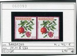 Barbados - Früchte / Fruits 2011 - 10,00 $-Paar / Pair - Oo Oblit. Used Gebruikt - Barbados (1966-...)