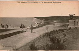 Cpa 76 TREPORT-TERRASSE  Vue Du Premier Belvédère (montée Par Le Funiculaire) Editions L'Hirondelle , Dos Vierge - Le Treport
