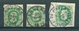 30 Gestempeld ANVERS + ANVERS STATION - 1869-1883 Leopold II