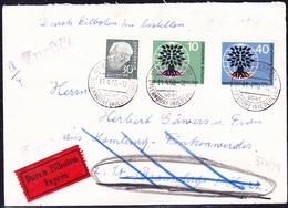 BRD FGR RFA - Eilbrief Von Ihlienworth Nach Braunlage Vom 11.4.60 Mit (MiNr: 326/7 + 259x) Sehr Interessant - BRD