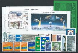 Sweden , Bigger Mixed Lot On 4 Big-stock-cards (as Per Scans)VFU / MNH - Sweden