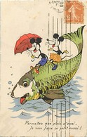 Themes Div-ref AA178- Illustrateurs - Illustrateur -poisson D Avril - Souris - Mouses - Disney - - Disney