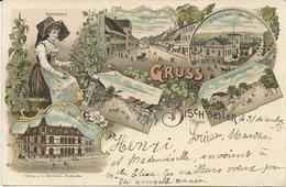 CARTE POSTALE LITHO GRUSS AUS BISCHWEILER 1897 - Bischwiller