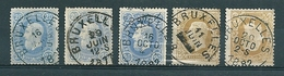 31 + 32 Gestempeld BRUXELLES - 1869-1883 Léopold II