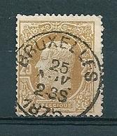 31 Gestempeld BRUXELLES - 1869-1883 Leopold II