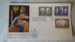 Enveloppe 1°  Jour...poste VATICAN ..1966 CACRUM  POLONIAE MILLENIUM - Joint Issues