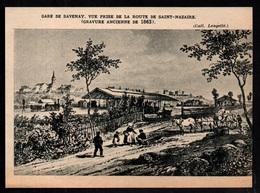 1963  --  GARE DE SAVENAY EN 1863  VUE PRISE DE LA ROUTE DE SAINT NAZAIRE   N631 - Old Paper