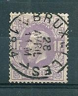 36 Gestempeld BRUXELLES 7 - 1869-1883 Leopold II