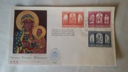 Enveloppe 1°  Jour...poste VATICAN ..1966 SACRUM  POLONIAE  MILLENIUM 2 - Joint Issues