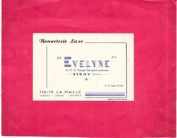 VICHY - 03 - Carte PUB BONNETERIE LUXE EVELYNE - Toute La Maille - DELC8 - - Cartes
