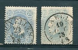 31 Gestempeld DC BRUXELLES - COBA 4 Euro - 1869-1883 Léopold II